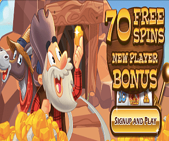 70 Free Spins with Goldrush