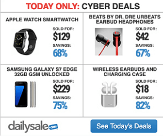 Cyber Deals at Daily Sale