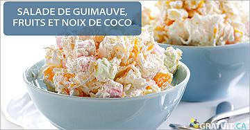 Salade de guimauve, fruits et noix de coco