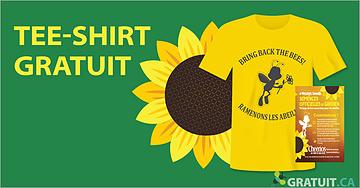 "GRATUIT - tee-shirt ""Ramenons les abeilles"""