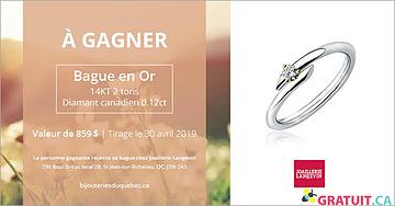 Gagnez une bague en or 14kt avec diamant canadien