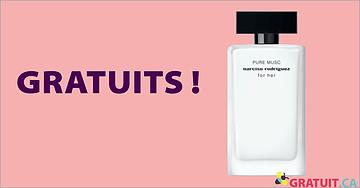 Échantillons gratuits de parfum PURE MUSC de Narciso Rodriguez