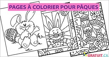 GRATUITES - Pages à colorier pour Pâques