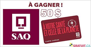 Gagnez une carte-cadeau SAQ de 50$