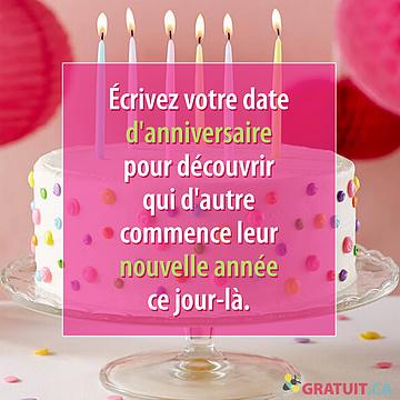Écrivez votre date d'anniversaire pour découvrir qui d'autre commence leur nouvelle année ce jour-là.