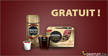 Échantillon gratuit de Nescafé