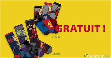 GRATUITES - chaussettes Avengers