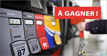 Gagnez une carte-cadeau d'essence de 100$