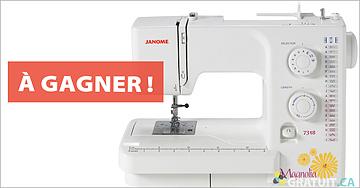 Gagnez une machine à coudre Janome Magnolia