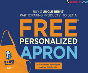 Get a Free Personalized Apron from Uncle Ben's