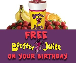 Get a FREE Booster Juice on Your Birthday