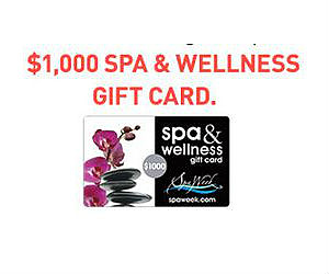 Win a Free $1,000 Spa Week Gift Card