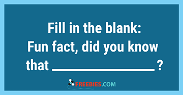 POLL: Fill in the Blank Friday!