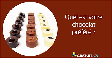 Quel est votre chocolat préféré?