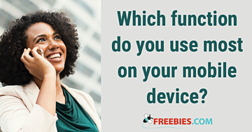 POLL: What function do you use most on your cellphone?