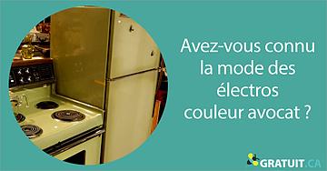 Avez-vous connu la mode des électros couleur avocat?