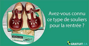 Avez-vous connu ce type de souliers pour la rentrée?