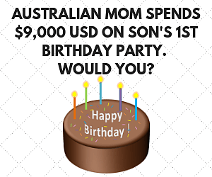 Mom spends $9,000 on son's first birthday party