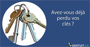 Avez-vous déjà perdu vos clés?