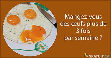 Mangez-vous des œufs plus de 3 fois par semaine?