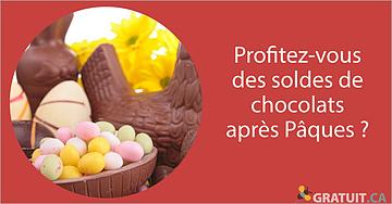 Profitez-vous des soldes de chocolats après Pâques?