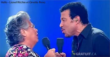 Lionel Ritchie et Ginette Reno chantent Hello