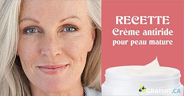 Crème antiride pour peau mature