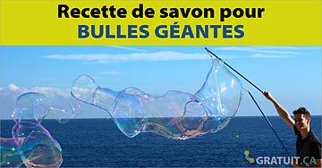 Recette de savon pour bulles géantes