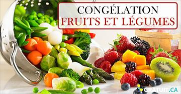 La congélation ultra simple des fruits et légumes