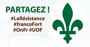 Partagez le lys vert en signe de solidarité avec les Franco-ontariens