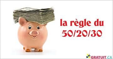 La santé financière avec la règle de 50/20/30