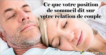 Ce que votre position de sommeil dit de votre relation de couple