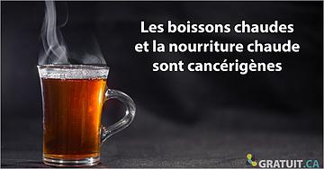 C'est prouvé, boire des boissons chaudes ou manger de la nourriture chaude est cancérigène