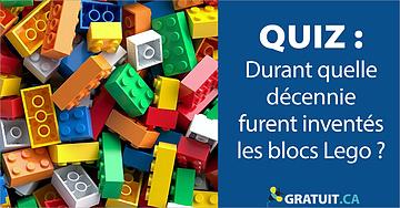 Durant quelle décennie furent inventés les blocs Lego?