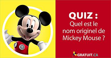 Quel est le nom originel de Mickey Mouse?