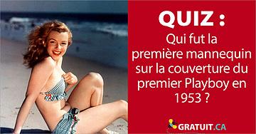 Qui fut la première mannequin sur la couverture du premier Playboy en 1953?