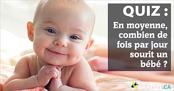 En moyenne, combien de fois par jour sourit un bébé?