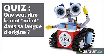 """Que veut dire le mot """"robot"""" dans sa langue d'origine?"""