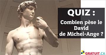 Combien pèse le David de Michel-Ange?