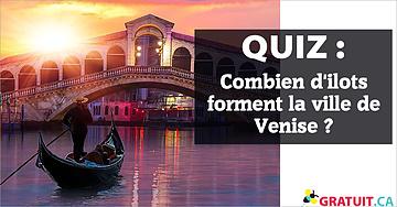 Combien d'ilots forment la ville de Venise?