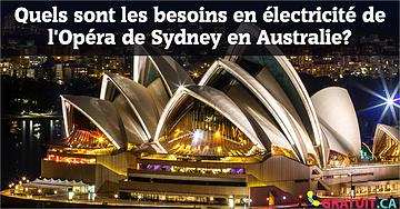 Quels sont les besoins en électricité de l'Opéra de Sydney en Australie?