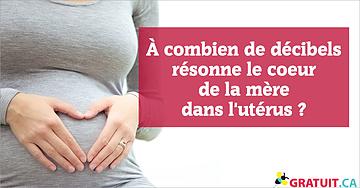 À combien de décibels résonne le coeur de la mère dans l'utérus?