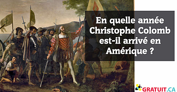 En quelle année Christophe Colomb est-il arrivé en Amérique?