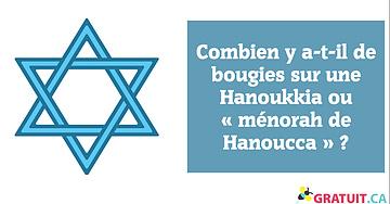 Combien y a-t-il de bougies sur une Hanoukkia ou « ménorah de Hanoucca »?