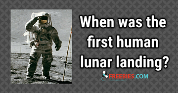 TRIVIA: When was the first human lunar landing?