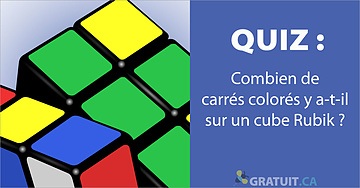 Combien de carrés colorés y a-t-il sur un cube Rubik?