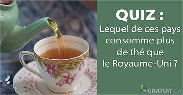 Quiz : Lequel de ces pays consome plus de thé que le Royaume-Uni?