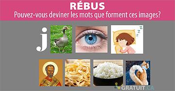 Rébus : trouvez les mots qui se cachent dans ces images.