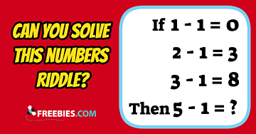 RIDDLE: Can you solve this numbers riddle?