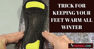 keep feet warm